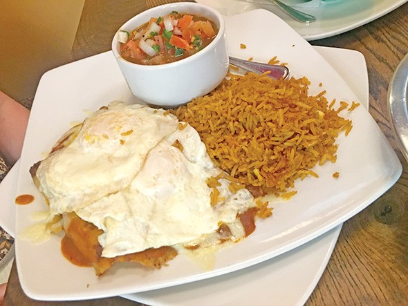 El Huevo Mexi-Diner combines breakfast and Mexican favorites. - JACOB THREADGILL