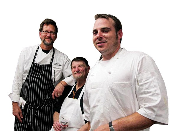 Chefs Kurt Fleischfresser, John Bennett and David Henry - PROVIDED
