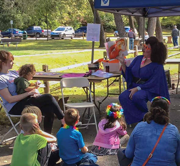 Shantel P. Mandalay leads Drag Queen Story Hour at noon and 2 p.m. in the children's area. - PROVIDED