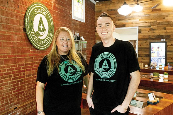 Miranda Mitto and Talon Hull, co-owners of Sage Wellness - ALEXA ACE