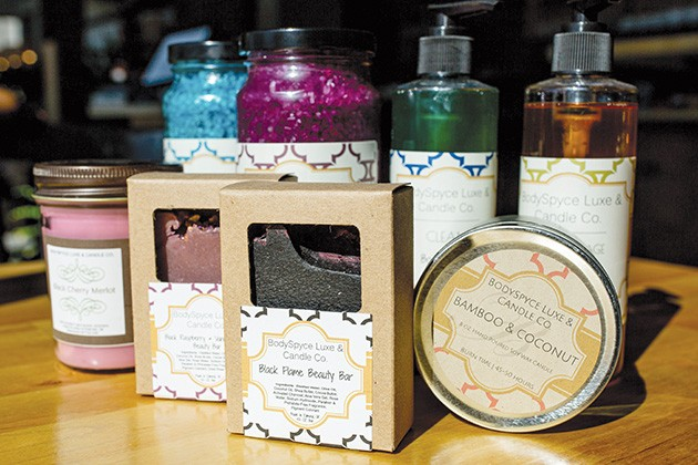 BodySpyce's body washes, fragrance sachets, soaps, bath bombs, candles and other items are made with simple, clean ingredients in small batches. - ALEXA ACE