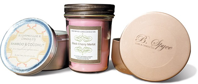 BodySpyce Luxe & Candle Co. candles are made with a coco-soy blend that is vegan and clean-burning. - ALEXA ACE