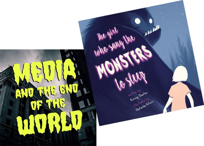 Media and the End of the World podcast  | Image Media and the End of the World / provided • The Girl Who Sang the Monsters to Sleepby Kinsey Charles, illustrated by Natasha Alterici | Image Literati Press / provided