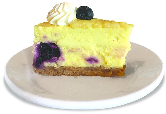 Lemon and blueberry cheesecake at The Lokal Yukon - JACOB THREADGILL