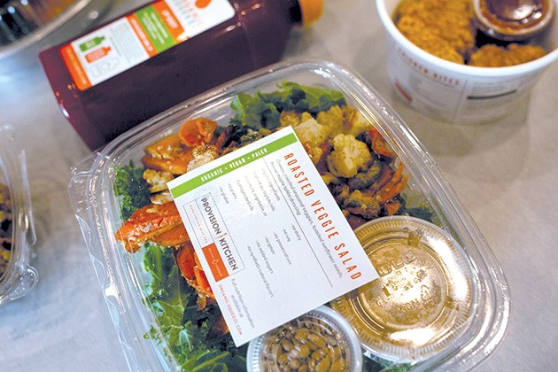 The Provision Kitchen grab-and-go section in Organic Squeeze offers salads, soups and ready-to-eat entrees. - ALEXA ACE