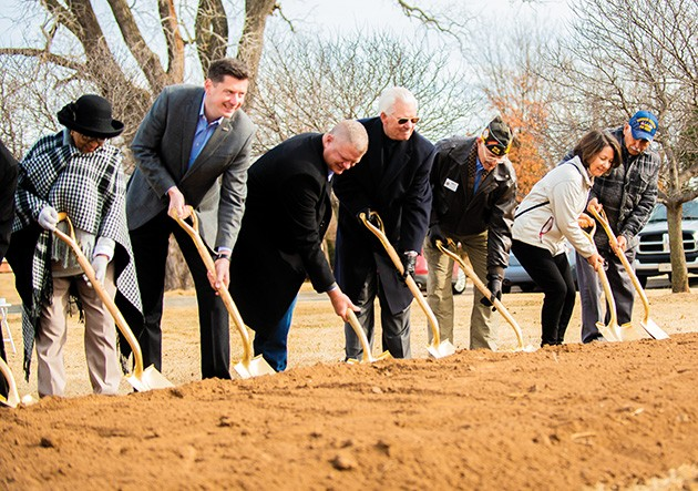 Community and city leaders officially broke ground on construction for Manuel Perez Park, which is estimated for completion in fall 2020. - MIGUEL RIOS