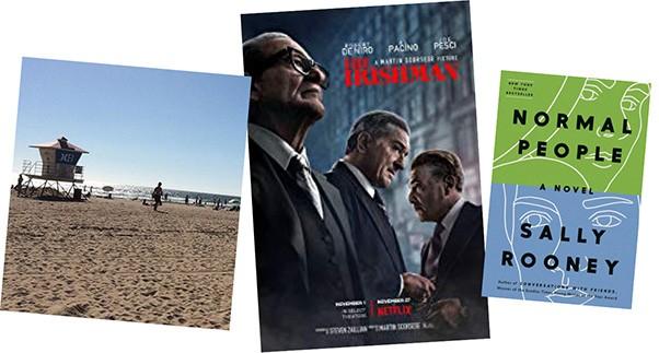 The Irishman (Netflix) | Image Netflix / provided • Normal People by Sally Rooney | Image Penguin Random House / provided