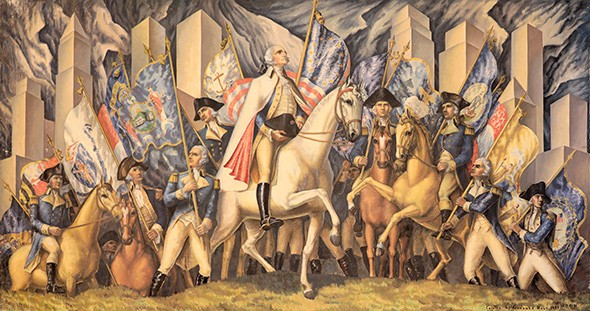 """Triumph of Washington"" by Gardner Hale - PROVIDED"