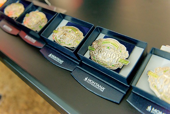 Winners in Cowboy Cup categories were awarded custom belt buckles. - PROVIDED