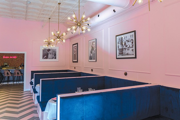 "The Eleanor owner Amanda Bratcher wanted a feminine-themed lounge centered on the phrase ""la vie en rose"" (life in pink). - PHILLIP DANNER"