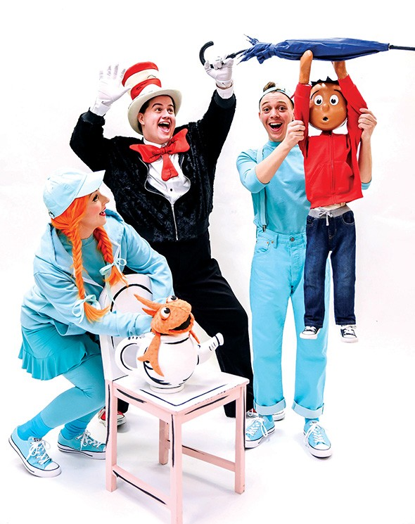 Lexi Windsor, Josiah Brooks and Eli Bradley star in The Cat in the Hat. - K. TALLEY PHOTOGRAPHY / PROVIDED