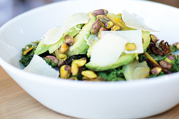 Lemony kale salad at Play Cafe - EMILY FLETCHER / PROVIDED