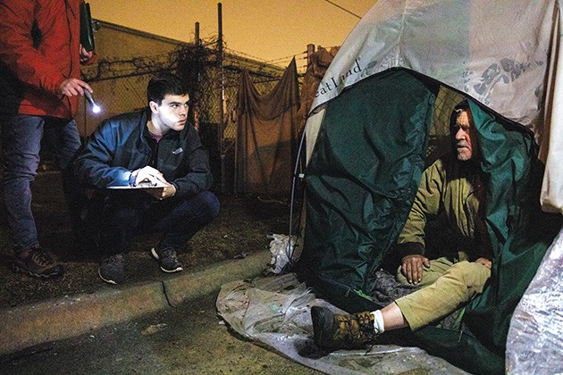 Officials say the 2020 Point in Time Count for people experiencing homelessness was the most organized it has ever been. - NATHAN POPPE / THE CURBSIDE CHRONICLE / PROVIDED