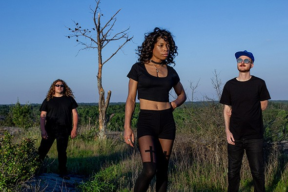 The Atlanta-based three-piece — featuring guitarist Brett Reagan, bassist Jamie Austin and drummer Sarah Wilson — plans to release its third album Darque Tan and tour Europe later this year. - KAMIL LEE / PROVIDED
