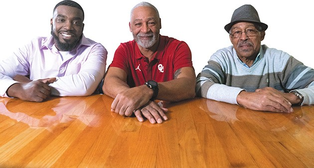 Mario Long, Carl Kemp Jr. and Carl Kemp Sr. are three generations involved with Elmer's Uptown. - PHILLIP DANNER