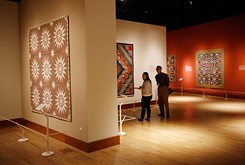 """""""Quilts are among America's most beloved objects,"""" said Catherine Shotick, the museum's coordinating curator for the exhibit."""