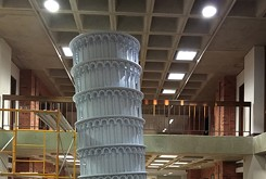 Replica of Leaning Tower of Pisa on display at OU