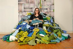 Complimenting the whole: A local artist knits, brings together art community
