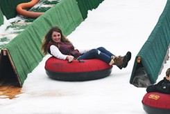 Snow tubing continues downtown