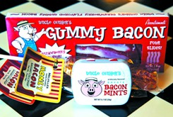 Inventive bacon products and concoctions