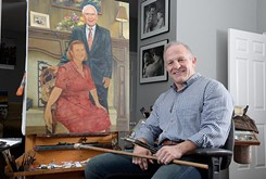 Artist Mike Wimmer takes up residence at the historic Skirvin Hilton hotel