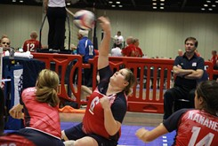 ESPY finalist and UCO resident athlete Heather Erickson attempts to take home Paralympic gold in sitting volleyball