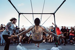 Local body suspension artists plan a New Year's Eve showcase at <em>Battle of the Gods</em>