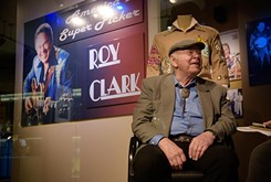 Roy Clark reflects on his career while opening his new American Banjo Museum exhibit