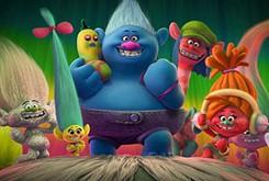 DreamWork's <em>Trolls</em> toys with a brightly colored musical wonderland
