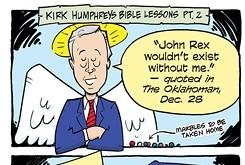Cartoon: Kirk Humphreys Bible lessons part 2