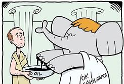 Cartoon: Republicans wash hands of tax vote