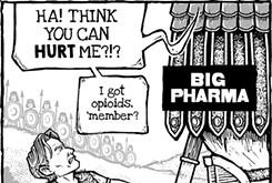 """Cartoon: """"Oxy"""" morons"""
