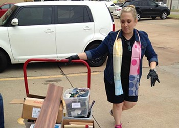 Organization helps reduce waste while filling arts supplies