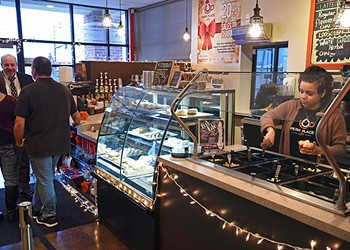 The cafe is a comfy place to hang out (yes, there's WiFi) with an array of lattes, cappuccino, iced coffees, scrumptious smoothies and loose-leaf teas.
