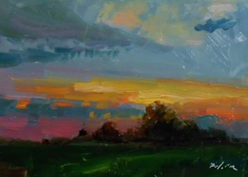 Artist Kelli Folsom painted the Oklahoma sunrise for 30 straight days