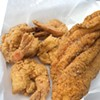 Shrimp and catfish from Tez Wingz