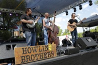 The Howlin' Brothers perform during the Queen of the Prairie festival in Guthrie, Friday, May 1, 2015. - GARETT FISBECK