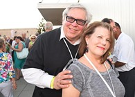 John Koon and Susan Randall attending the OKCMOA opening night rooftop party for the DeadCenter Film Festival, 6-11-2015.  Mark Hancock