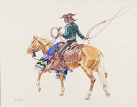 •California Vaquero. Joe DeYong, 1920, watercolor. The DeYong Collection, National Cowboy & Western Heritage Museum. 1980.18.121 - Uploaded by lswitzer