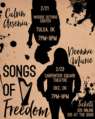 Deonna Marie & Calvin Arsenia join forces in Oklahoma for an incredible performance you have to see to believe. - Uploaded by Deonna Cattledge