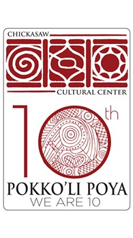 Pokko'li Poya: We Are 10 logo - Uploaded by Chickasaw Cultural Center