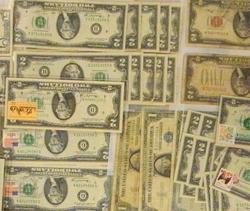 A bunch of $2 bills