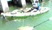 A Florida fisherman caught a disturbingly large fish last weekend