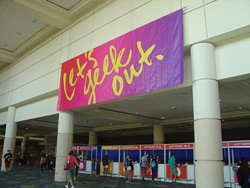 A massive banner with the LeakyCon tagline animated the check-in area.