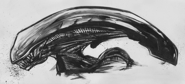 'Alien Xenomorph Warrior 3' by Plinio Pinto