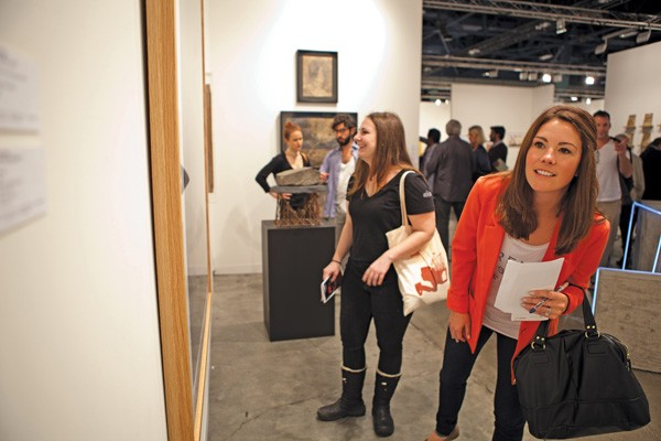 Alya Poplawsky and Katie Bakker of A/K Art Consulting at Art Basel Miami 2011 (photo by Patricia Lois Nuss)