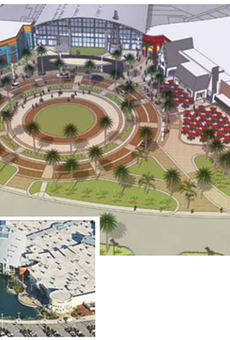An aerialview of the Festival Bay Mall makeover.