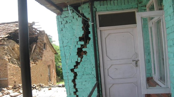 An image showing some of the damage to the orphanage's building - RISING LOTUS CHILDREN'S VILLAGE FACEBOOK