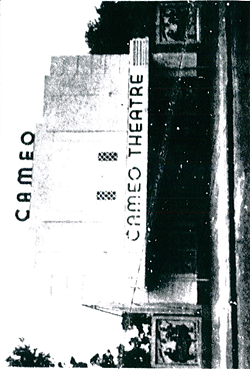 An old photo of the Cameo – apparently the only one that could be found – showing its original signage. Photo via City of Orlando
