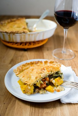 Andouille sausage and cornbread stuffing ... gluten-free! (recipe and photo via Food52)